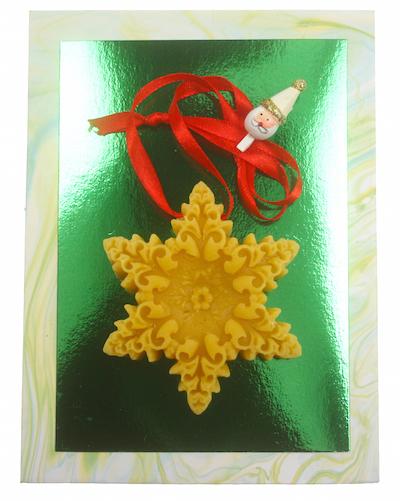 Bijenwas Geuren, kerstster-hanger