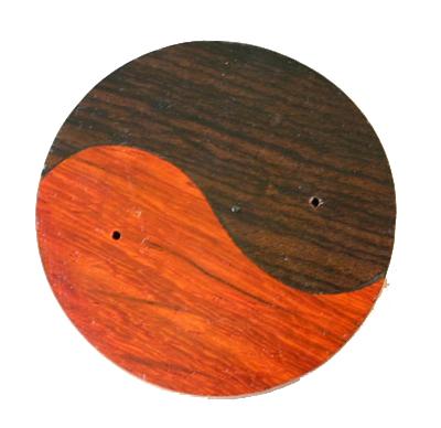 Houten wierookhouder 2 houtsoorten