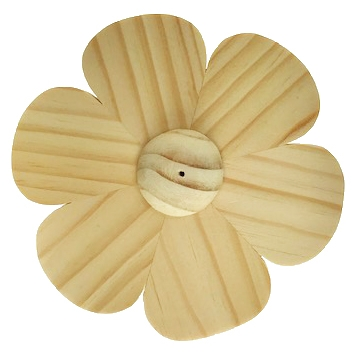 Nootmuskaathout lotusbloem 4 inch wierookhouder